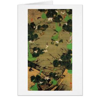 23. 池辺群虫図, 若冲 Living Beings with Pond, Jakuchū Card
