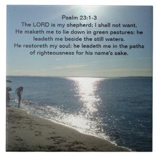23:1 del salmo - 3 azulejo cuadrado grande