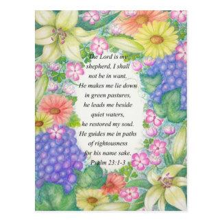 23:1 del salmo - 3 y flores postales