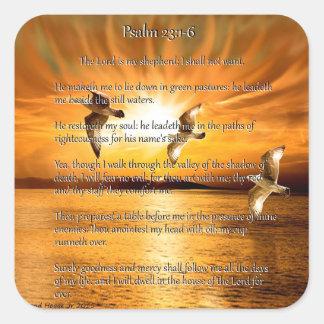 23:1 del salmo - 6 el señor Is My Shepard Pegatina Cuadrada