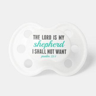23:1 del salmo el señor Is My Shepherd Chupetes Para Bebes