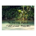 23:1 del salmo tarjeta postal