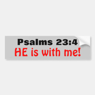 23:4 de los salmos él está conmigo pegatina para auto