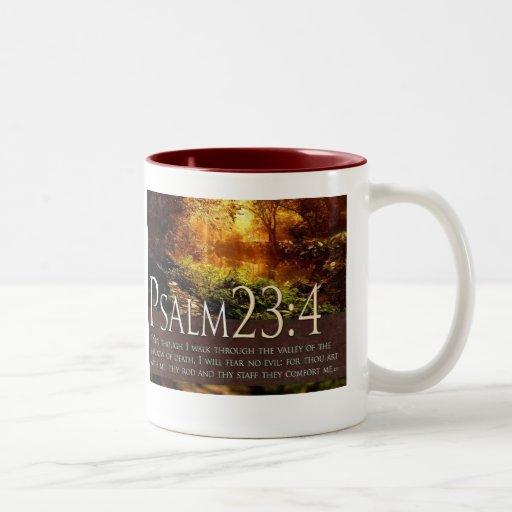 23:4 del salmo taza dos tonos