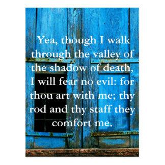 23:4 inspirador del salmo de la escritura de la bi postales