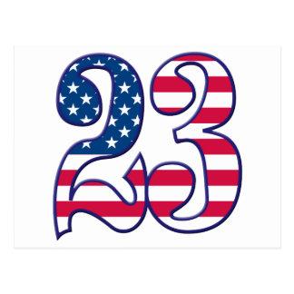 23 Age USA Postcard