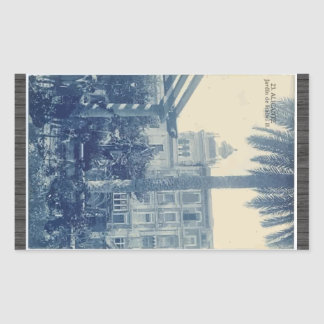 23.Alicante Jardin De Isabel Ii, Vintage Rectangular Sticker