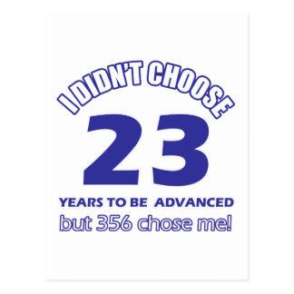 23 años de adelanto postal