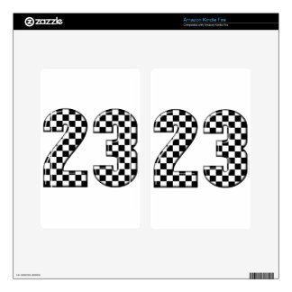 23 auto racing number kindle fire skin