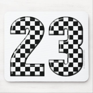 23 auto racing number mouse pad