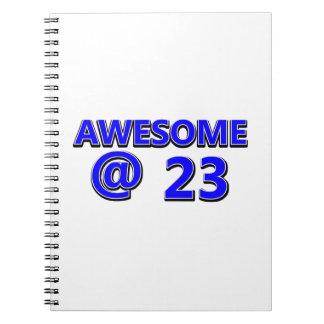 23  birthday design notebook