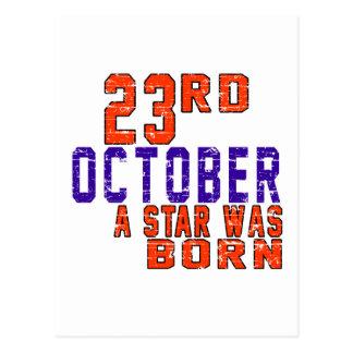 23 de octubre una estrella nació postal