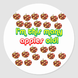 23 este muchas manzanas viejas etiqueta redonda