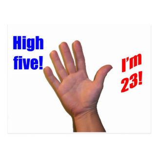 23 High Five! Postcard