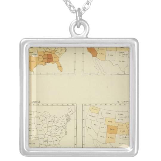 23 Interstate migration 1890 ALCT Silver Plated Necklace