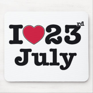23 july my birthday mouse pad