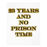 23 no prison time flyer