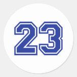 23 - número etiqueta redonda