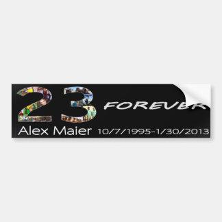 23 para siempre Alex Maier Pegatina Para Auto