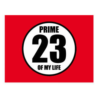23 - prime of my life postcard