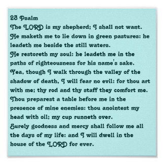 23 Psalm Poster