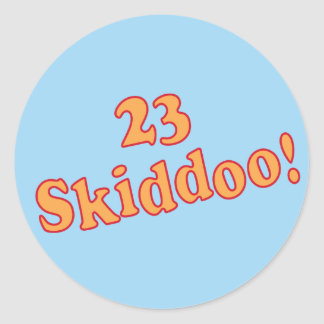 23 Skiddoo Classic Round Sticker