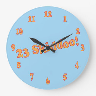 23 Skiddoo Large Clock