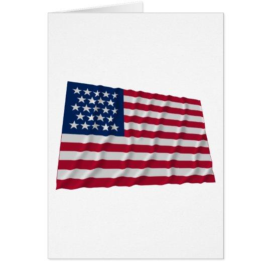 23-star flag card