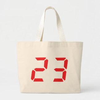 23 twenty-three red alarm clock digital number bag