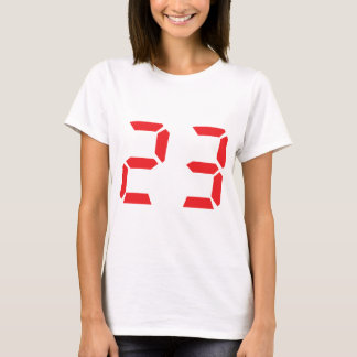 23 twenty-three red alarm clock digital number T-Shirt
