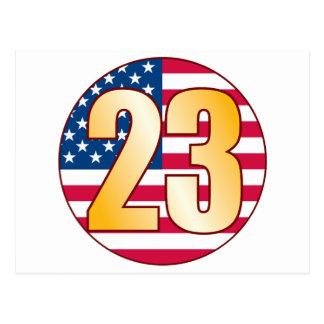 23 USA Gold Postcard
