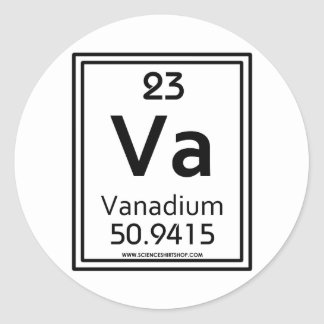 23 Vanadium Classic Round Sticker