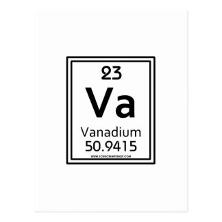 23 Vanadium Postcard