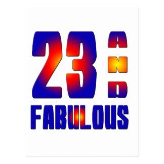 23 y fabuloso postales