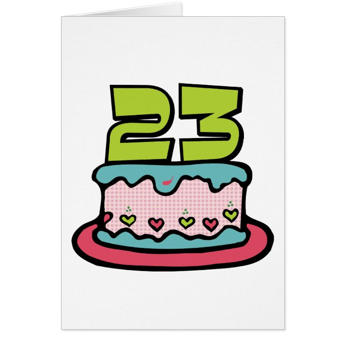 Birthday Cake Images For 23 Year Old : 23 Year Old Birthday Cake Card Zazzle