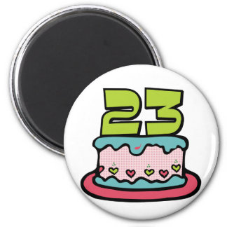 23 Year Old Birthday Cake Magnet