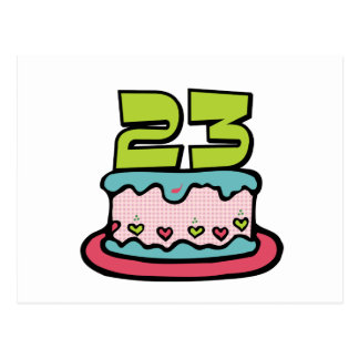 23 year old birthday cake gifts on zazzle 23 year old birthday cake postcard thecheapjerseys Gallery