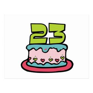 23 Year Old Birthday Cake Postcard