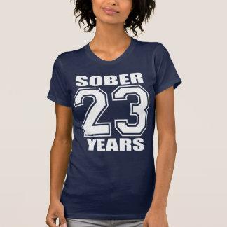 23 YEARS  Sober White on Dark T-shirt