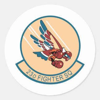 23d Escuadrón de caza Pegatina Redonda