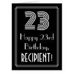"[ Thumbnail: 23rd Birthday — Art Deco Inspired Look ""23"" + Name Card ]"