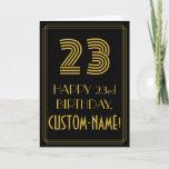 "[ Thumbnail: 23rd Birthday: Art Deco Inspired Look ""23"" & Name Card ]"