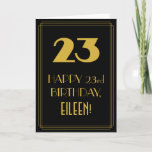 "[ Thumbnail: 23rd Birthday ~ Art Deco Inspired Look ""23"" & Name Card ]"