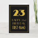 "[ Thumbnail: 23rd Birthday – Art Deco Inspired Look ""23"" & Name Card ]"