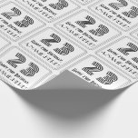 """[ Thumbnail: 23rd Birthday: Art Deco Inspired Style """"23"""" + Name Wrapping Paper ]"""
