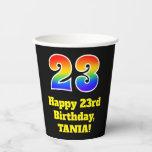 [ Thumbnail: 23rd Birthday: Colorful, Fun, Exciting, Rainbow 23 ]
