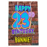[ Thumbnail: 23rd Birthday: Fun, Urban Graffiti Inspired Look Gift Bag ]