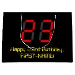 "[ Thumbnail: 23rd Birthday: Red Digital Clock Style ""23"" + Name Gift Bag ]"