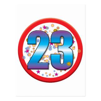 23rd Birthday v2 Postcard