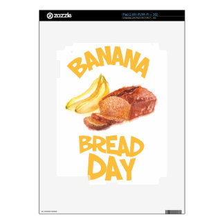23rd February - Banana Bread Day Decals For iPad 2